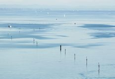Morning mood at the bay of Constance Stock Photography