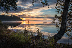 Morning mood at lake Stock Photos