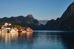 Morning mood in Reine Royalty Free Stock Images