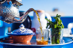 Morning moroccan tea. The tea in morocco is the most consumed hot drink in morocco Stock Photography