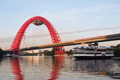 Morning on the Moscow River Royalty Free Stock Photography