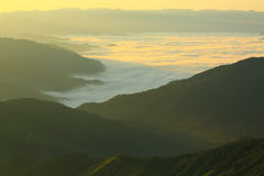 Morning  mountain  fog. In nan province of thailand Royalty Free Stock Image