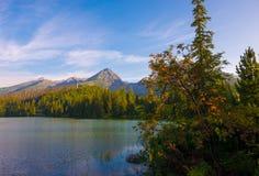 Morning mountain lake in National Park High Tatra Stock Photo