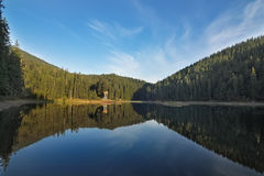 Morning mountain lake Synevir. Stock Images