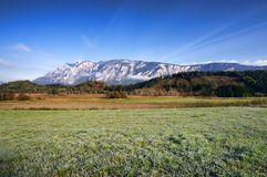 Morning mountain landscape. Fresh autumn morning landscape in Austria Stock Photography