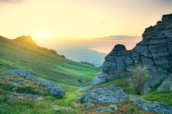 Morning mountain landscape. Royalty Free Stock Images