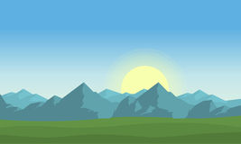 At morning mountain landscape vector Stock Images
