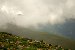 Morning mountain mist Royalty Free Stock Photography