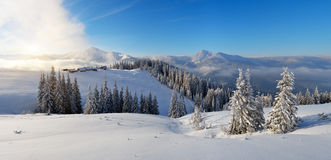 Morning mountain panorama Royalty Free Stock Photo
