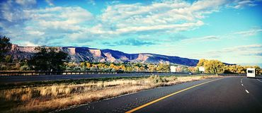 Morning mountains. Driving home from Denver had to take a picture Royalty Free Stock Photos