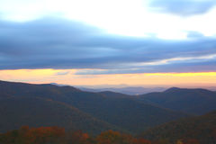 Morning Mountains II. Morning in the Blue Ridge Mountains stock photo