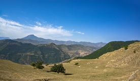 Morning mountains royalty free stock photos