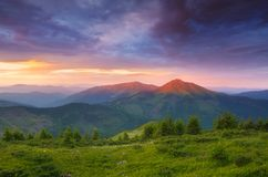 Morning in mountains Royalty Free Stock Photos