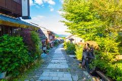 Morning Nakasendo Trail Magome Blue Sky H Stock Image