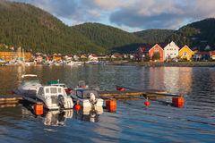Morning Namsos Stock Photo