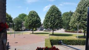 Morning. Nature trees sunshine village Stock Photography