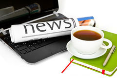 Morning news Stock Images