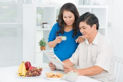 Morning news Stock Photo