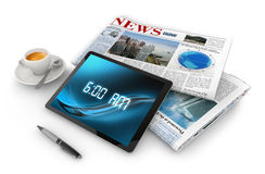Morning news Stock Image