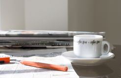 Morning newspapers (in search of job) Royalty Free Stock Photos