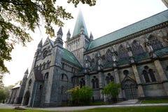 Morning at Nidaros Cathedral Stock Photography