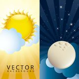 Morning and night Stock Photo