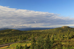 Morning Norwegian landscape. This шы morning in the upland area of the province of Buskerud in Norway Royalty Free Stock Images
