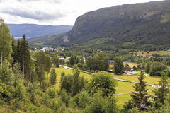 Morning Norwegian landscape. This is morning in the upland area of the province of Buskerud in Norway Stock Image