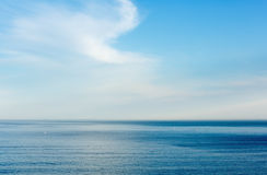 Morning ocean view from shore (Bay of Biscay). Royalty Free Stock Photo