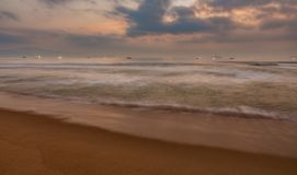 Morning Ocean Waves Vietnam Stock Image
