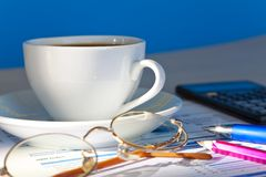 Morning in office Royalty Free Stock Photography