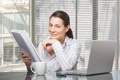 Morning in the office Royalty Free Stock Photography