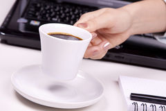 Morning office coffee Stock Photos