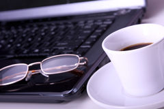 Morning office coffee Stock Photography