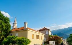 Morning in Old Town of Budva. Montenegro, Balkans, Europe Royalty Free Stock Photos