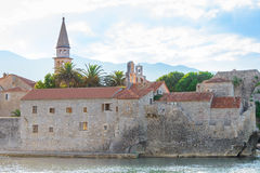 Morning in Old Town of Budva. Montenegro, Balkans, Europe Stock Images