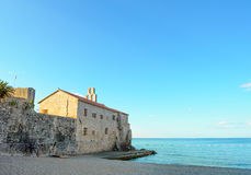 Morning in Old Town of Budva. Montenegro, Balkans, Europe Royalty Free Stock Images