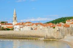 Morning in Old Town of Budva. Montenegro, Balkans, Europe Stock Photo