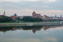 Morning in Old Town of Torun, Poland Stock Photo