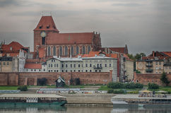 Morning in Old Town of Torun, Poland Royalty Free Stock Images