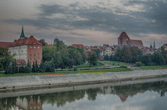 Morning in Old Town of Torun, Poland Royalty Free Stock Image