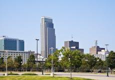 Morning in Omaha. Skyline of the city. Omaha, Nebraska, USA Royalty Free Stock Photos