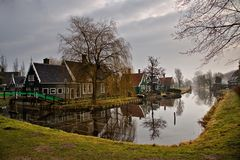 Morning On Zaanse Schans Royalty Free Stock Image