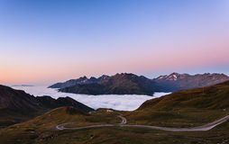 Morning over clouds Royalty Free Stock Images