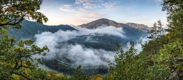Morning over Domasinsky meander Stock Photo