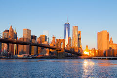 Morning over Manhattan Royalty Free Stock Photo