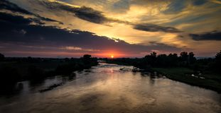 Morning over the Maritsa River royalty free stock images