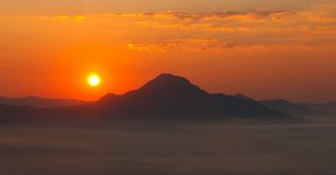 Morning over mountain Stock Photo