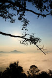 Morning over mountain in northeast of Thailand Stock Photo