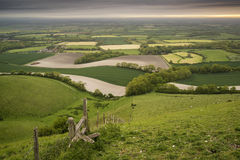 Morning over rolling English countryside landscape in Spring Royalty Free Stock Images